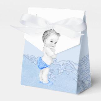 Cajas azules del favor del príncipe fiesta de