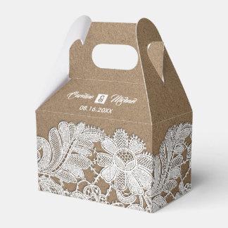 Cajas blancas del favor del boda de papel del