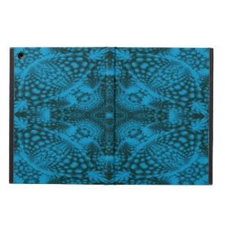 Cajas coloridas negras y azules del aire del iPad