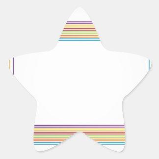 cajas coloridas pegatina en forma de estrella