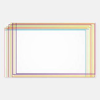 cajas coloridas pegatina rectangular