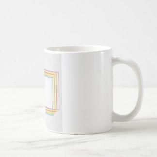 cajas coloridas taza básica blanca