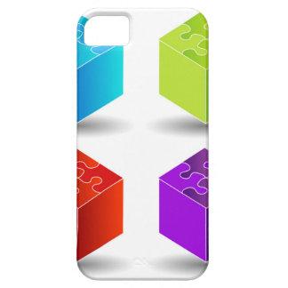 cajas con el tejado del rompecabezas iPhone 5 Case-Mate cárcasas