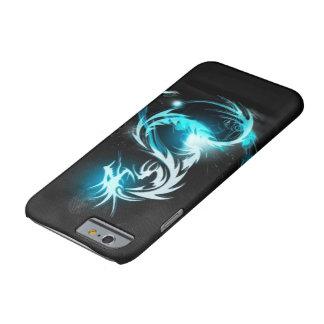 cajas cristalinas azules frescas del dragón funda de iPhone 6 barely there