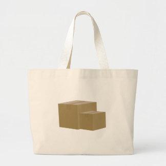 Cajas de cartón bolsa tela grande