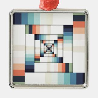 Cajas de colores adorno navideño cuadrado de metal
