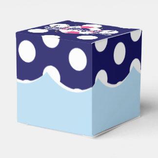 Cajas de encargo del favor del cumpleaños náutico