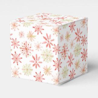 Cajas de la invitación del copo de nieve de la