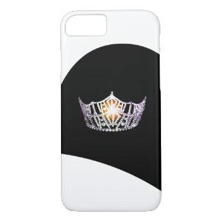 Cajas de plata del teléfono de la corona de Srta. Funda Para iPhone 8/7