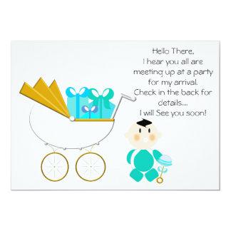 Cajas de regalo de la invitación del carro de bebé