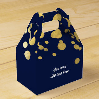 Cajas del favor de fiesta del confeti de la hoja