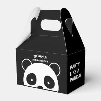 Cajas del favor de la panda, fiesta blanco y negro