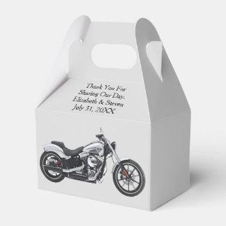 Cajas del favor del boda de la motocicleta