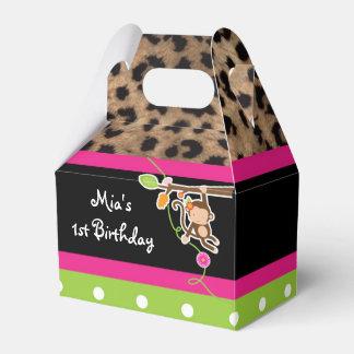 Cajas elegantes del favor de fiesta del leopardo
