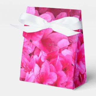 Cajas florales rosadas bonitas del favor del boda