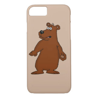 Cajas lindas del iPhone del diseño del oso marrón Funda iPhone 7