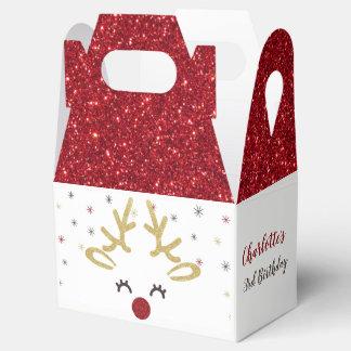 Cajas personalizadas del favor del navidad