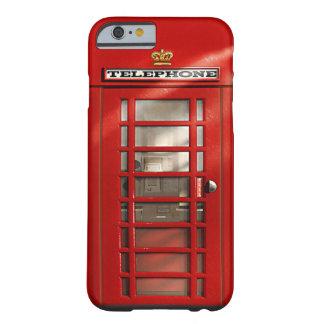 Cajas rojas británicas clásicas del personalizado funda para iPhone 6 barely there