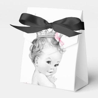 Cajas rosadas del favor de la princesa fiesta de
