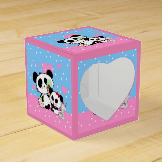 Cajas temáticas del favor de la panda linda caja para regalo de boda
