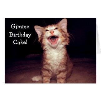 Cake pegan con masilla Birthday Card wants - funny Tarjeta De Felicitación