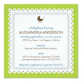 Cal/invitación de encargo preciosa azul de la invitación 13,3 cm x 13,3cm