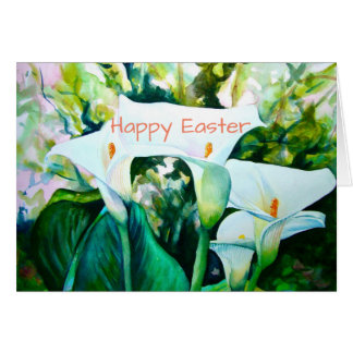 "Cala Lillies Pascua feliz 5"" X 7"" tarjeta"