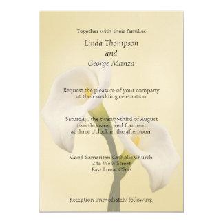 Cala Lilly en la invitación del boda del oro