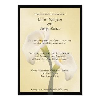 Cala Lilly enmarcado casando la invitación