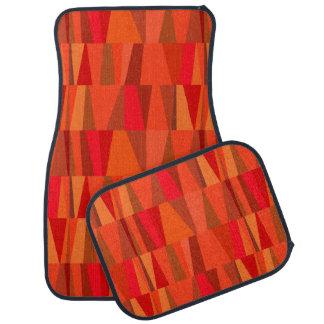 Calabaza abstracta geométrica del rojo anaranjado alfombrilla de coche