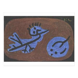 Calabaza azul del pájaro de Paul Klee Postal