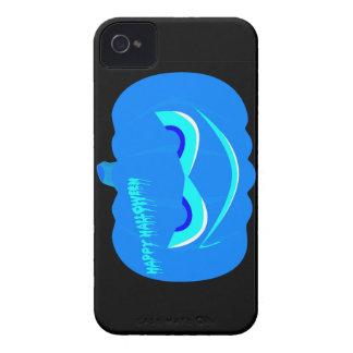 Calabaza azul malvada de Halloween Funda Para iPhone 4 De Case-Mate