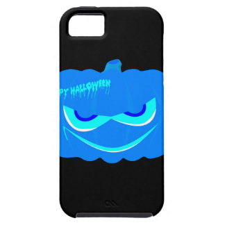 Calabaza azul malvada de Halloween Funda Para iPhone SE/5/5s