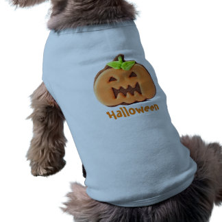 Calabaza bonita del naranja de Halloween Camiseta Sin Mangas Para Perro