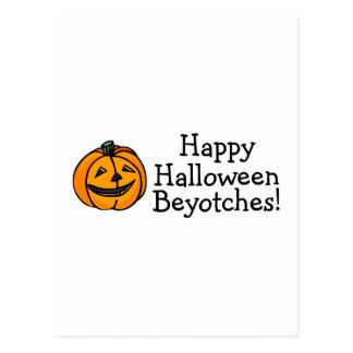 Calabaza de Beyotches del feliz Halloween Postal