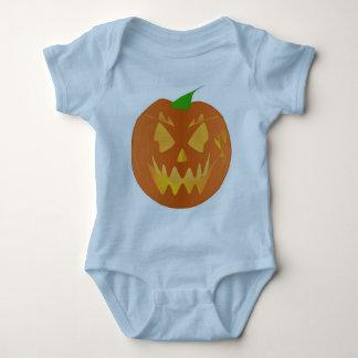 Calabaza de Halloween en azul claro Body Para Bebé