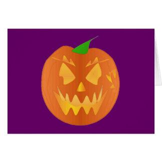 Calabaza de Halloween en la púrpura I Tarjeta De Felicitación