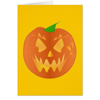 Calabaza de Halloween en oro Tarjeta De Felicitación
