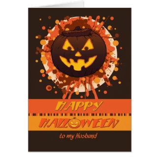 Calabaza de Halloween para el marido, humor, Tarjeta De Felicitación