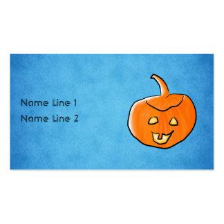 Calabaza de Halloween Plantilla De Tarjeta De Negocio