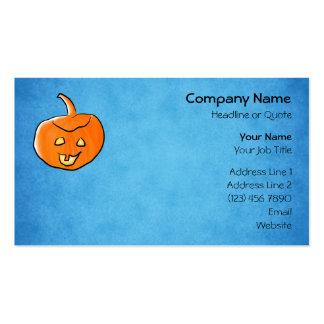 Calabaza de Halloween Plantillas De Tarjeta De Negocio