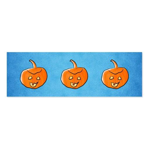 Calabaza de Halloween Plantillas De Tarjetas De Visita