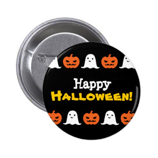 Calabaza de Halloween y botón simples del fantasma