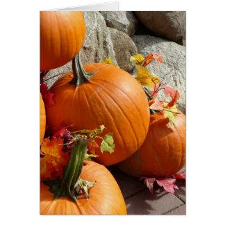 Calabaza de otoño feliz tarjeta pequeña