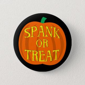 Calabaza del azote o de la invitación de Halloween Chapa Redonda De 5 Cm