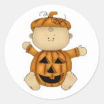 Calabaza del bebé de Halloween Pegatinas