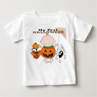 Calabaza del bebé mi 1ra camiseta del niño de
