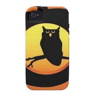 Calabaza del búho Case-Mate iPhone 4 fundas