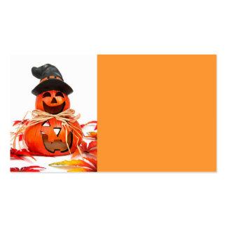 Calabaza del feliz Halloween Tarjetas De Visita