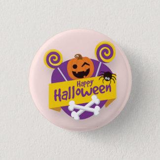Calabaza del feliz Halloween y botón del Pin de la